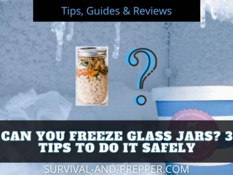 Glass jar being put into the freezer