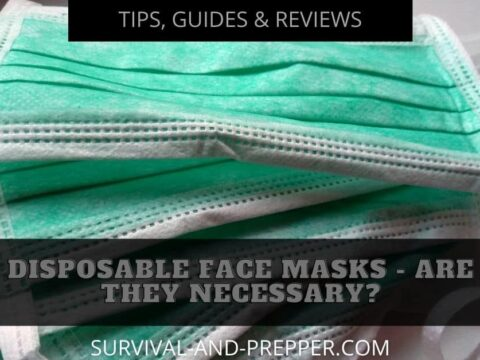 blue and green disposable face masks