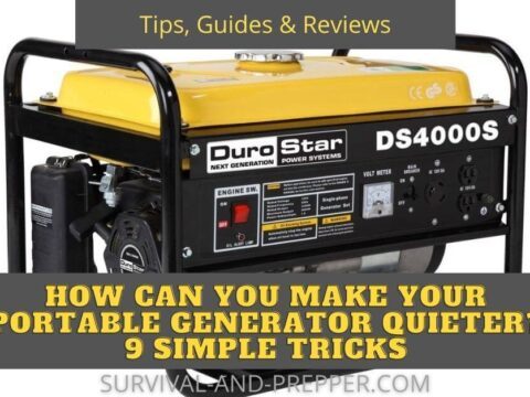 yellow generator and tips to make it quite