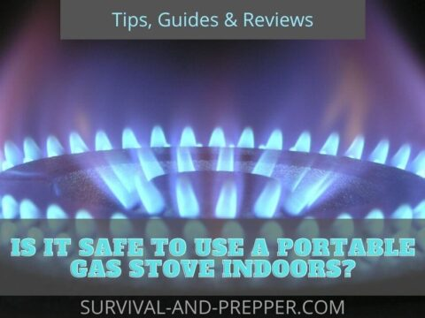 Blue flame from gas stove burning