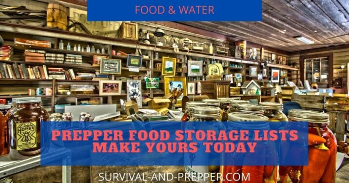 Prepper food storage options are nearly endless