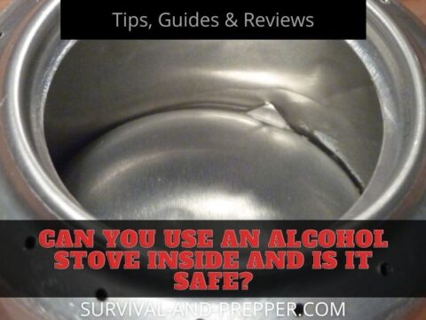 Is it safe to use an alcohol stove inside title
