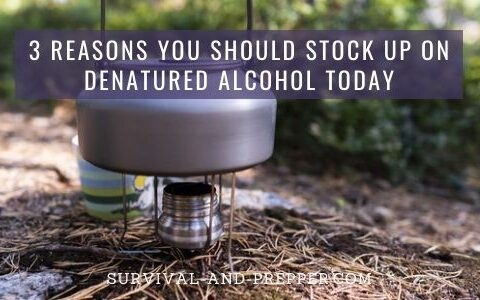 Camp Stove fueled by denatured alcohol